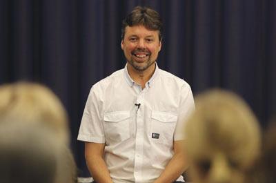 Andrew Wells senior Dru Yoga teacher