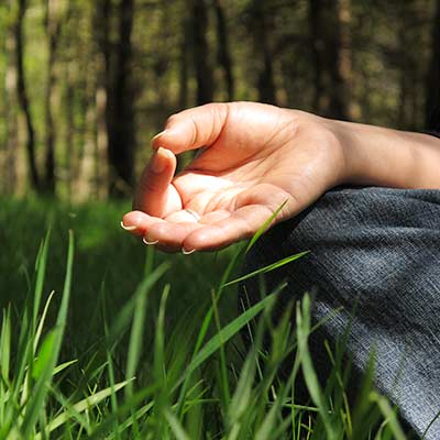 Dru meditation with hand mudra
