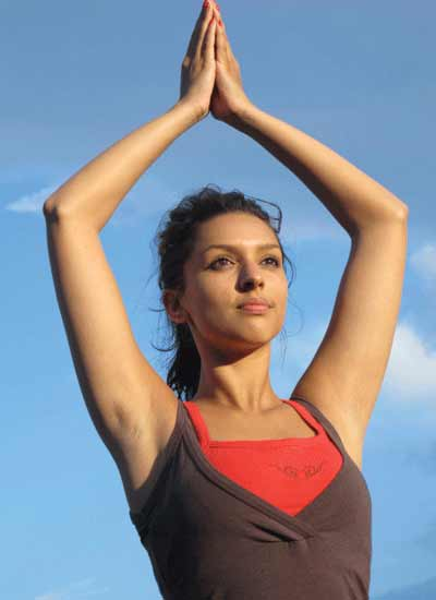 Radha Patel Dru Yoga teacher